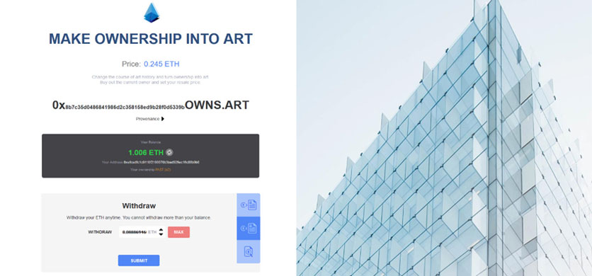 Ownership into Art